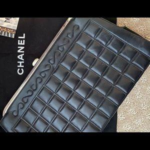 Vintage Chanel Chocolate Bar Clutch